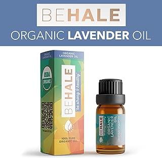 Behale Organic Essential Oil - 100% USDA Certified Organic Pure Undiluted Lavender Oil - 10 ml. (1/3 oz.)