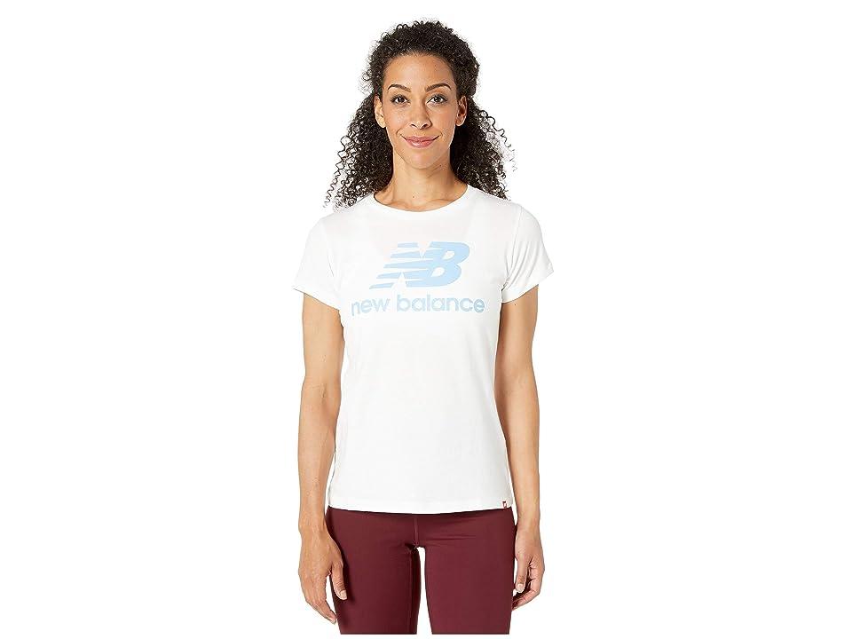 New Balance Essentials Stacked Logo Tee (White Multi) Women