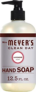Mrs. Meyer's Clean Day Liquid Hand Soap, Cruelty Free and Biodegradable Formula, Lavender Scent, 12.5 oz