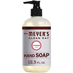 Mrs. Meyer's Hand Soap Made with Oil and Aloe Vera, Lavender Scent, 12.5 Fl Oz
