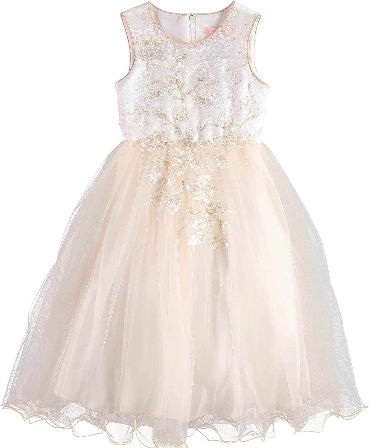 Pink Butterfly Girls Special Occasion Sleeveless Tulle Dress