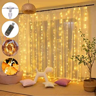 Juhefa Window Curtain Lights 300 Led Usb Powered