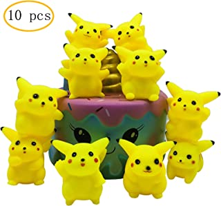 Cake Toppers Picks for Kids Birthday Party, Baby Shower Cake Decorations (Pikachu 10 pcs)