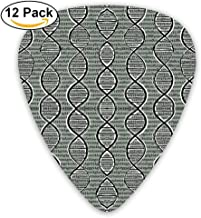 Double Helix DNA Guitar Picks For Electric Guitar 12 Pack