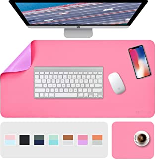 """Desk Pad, Desk Mat, Mouse Mat, XL Desk Pads Dual-Sided Purple/Red, 31.5"""" x 15.7"""" + 8""""x11"""" PU Leather Mouse Pad 2 Pack Wate..."""
