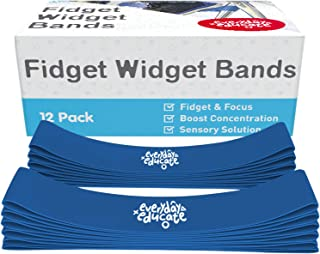 Chair Bands for Kids with Fidgety Feet | Fidget Bands for Classroom Chair, Seats, Desk, or Bounce Bands - (12 -Pack) Anti-...