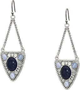Lapis Chain Statement Drops Earrings