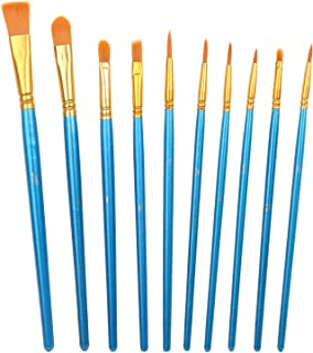 CCINEE Acrylic Paint Brushes Set, 20Pcs Artist Paintbrushes for Paint Brushes Oil Watercolor Beginner/Kids Arts Crafts Sup...