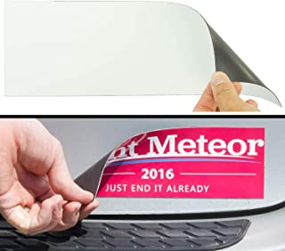 Cut-to-Size Bumper Sticker Magnetizer 4 Pack: Turn Any Decal Into a Strong Magnet. Durable & Weatherproof Magnetic Strip Protects Paint & Allows for Easy Swaps. Flexible 4x12 Sheet Guaranteed to Stick