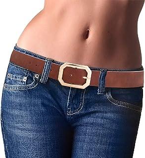 أحزمة جلد صناعي قابلة للعكس للنساء لبنطلون جينز ، أحزمة جلدية جيدة للنساء