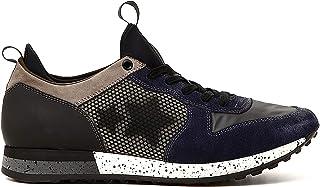 CafèNoir Sneakers in Crosta e Tessuto con Stelle e Suola Decorata
