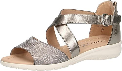 CAPRICE 28152-22 Femme Sandale à lanières,Sandales,Sandales à lanières,Chaussures d'été,Confortable,Plat