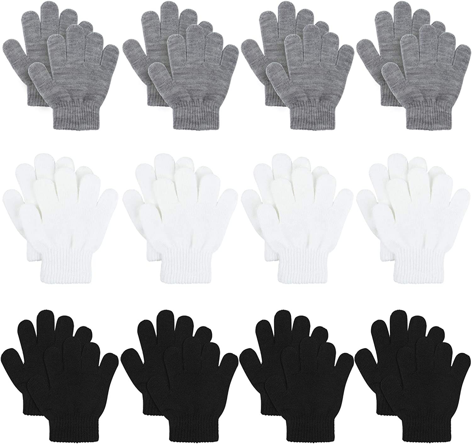 Cooraby 12 Pairs Kid's Winter Children Gloves Max 68% OFF Magic Stretchy War Mail order cheap