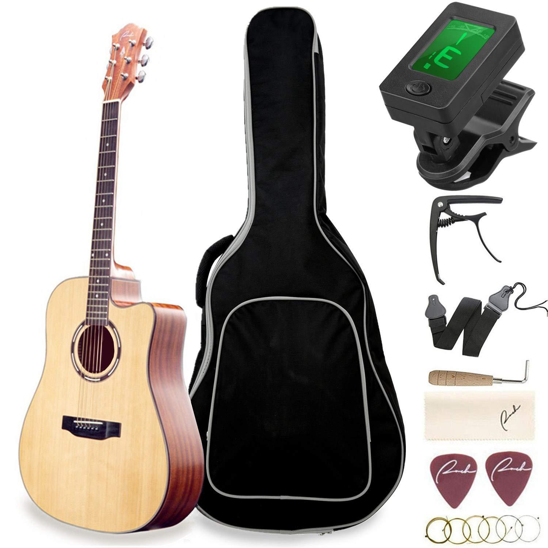 21 Inch Wood Guitar Kit Bundle Guitar Beginner Wood Guitar Starter Kit Acoustic Guitar Classical Guitar Acoustic Guitar Pick String Pink