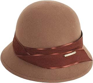 E.Joy Online Women Autumn Winter 100% Wool Felt Cloche Fedora Hat Ladies Church Derby Party Fashion