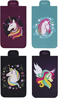 Heartzy Set of 4 Unicorn Magnetic Bookmark Combo | Gift for Booklovers