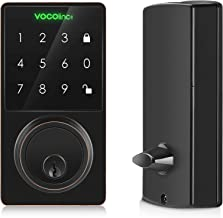 VOCOlinc Smart Door Lock Bluetooth Electronic Keyless Entry Deadbolt with Keypad LED Touch Screen ONLY Works with Apple HomeKit Remote Control via Apple TV/HomPod/iPad, T-GUARD, in Aged Bronze