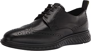 حذاء رجالي من ECCO مطبوع عليه St 1 Hybrid Lite Brogue Oxford، أسود، 12-12. 5