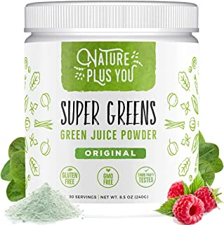 Sponsored Ad - Super Greens - Organic Non-GMO Supplement, Includes Spirulina, Alfalfa, Spinach, Probiotics, Fiber and Dige...
