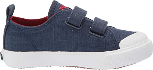 Navy Textured Canvas/Red Pony