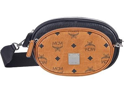 MCM Essential Visetos Original Crossbody Small (Black/White) Handbags