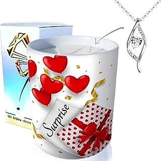 profumo fiore di ciliegio ArtGosse ornato con cristalli Swarovski/® Candela gioiello a 2 stoppini