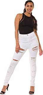 Aphrodite High Waisted Jeans for Women - Hig Rise Skinny Womens Distressed Ripped Jeans