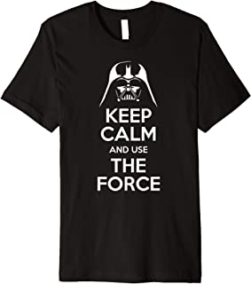 Keep Calm And Use The Force Cool Funny Saying Premium T-Shirt