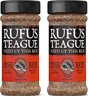 Rufus Teague - Steak Rub Seasoning, Gluten Free, No MSG 6.2 oz (Pack of 2)