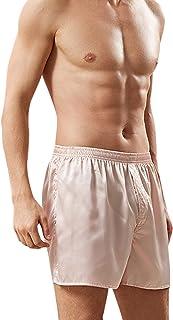 TAO Men Lounge Shorts Pyjama Pjs Bottom Silk Boxer Shorts Bottoms Nightwear Loungewear PJs Shorts Homewear