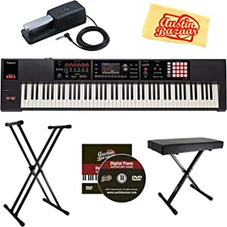 Roland FA-08 88-Note Music Workstation Bundle with Roland DP-10 Damper Pedal, Adjustable Stand, Bench, Dust Cover, Austin Bazaar Instructional DVD, and Polishing Cloth