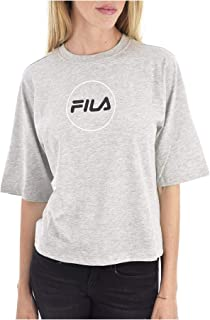 FILA Women's Rehan Tee SS T-Shirt, (Light Melange Bros), Medium