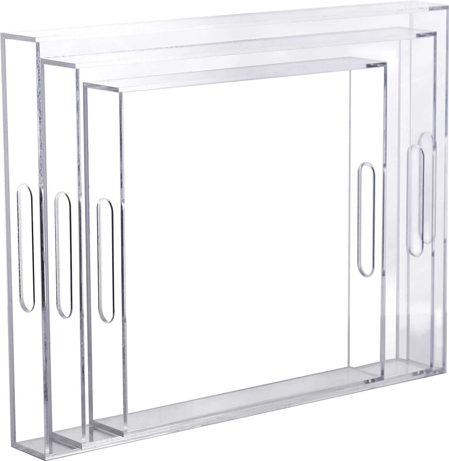Tinker Spoon Ash Clear Acrylic Serving of Popular shop is the lowest price challenge Tray 17 Miami Mall Set 3: