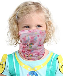 Kids Novelty Bandanas Cute Neck Gaiters UV Sun Protection Face Mask for Boys Girls (one size, Pink Pig)