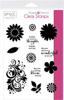 Thermoweb 18128 Gina K Designs Stamp Set-Crazy Daisy, Clear