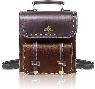 Little Bee PU Leather Girls Backpack Women Convertible Shoulder Bag Purse Stylish Crossbodybag