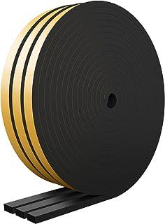 RATEL Tira de Sellado Junta 12 mm (W) * 6 mm (H) * 18 m (L)