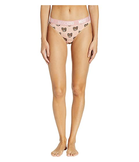 Moschino Jersey Stretch Thong Tiger Teddy Bears