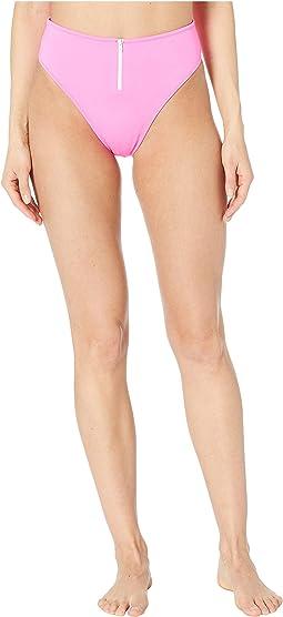 Classic Front Zip Bikini Bottoms