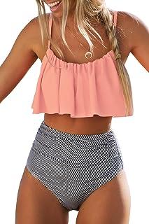 Women's High Waisted Falbala Bikini Set