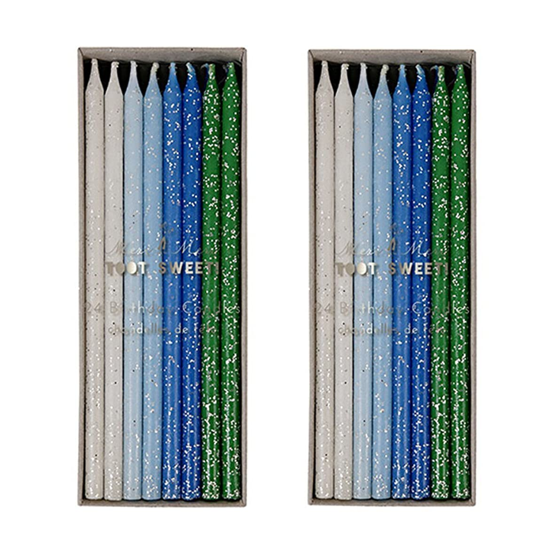 コーン航空代表団Meri Meri Birthday Candles 2つpack-48キャンドル ブルー