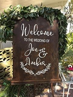 Flores Etiqueta de la muestra de la boda Carteles de boda personalizados Bienvenido Señalización de la boda Pizarra Decoración de espejo de vidrio rústico Personalizado