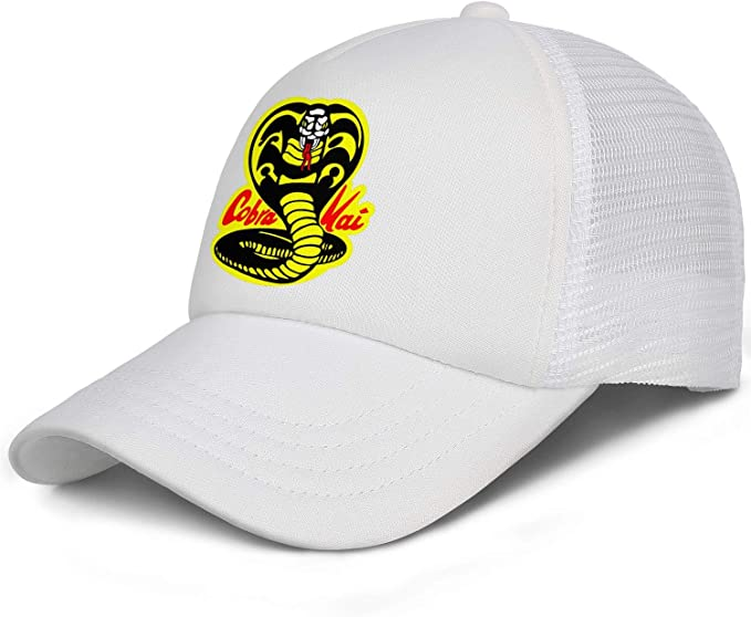 Labels4school Cobra Kai Dojo Baseball Cap Adjustable Hats Child Hip Hop Baseball Trucker Cap for Boys and Girls 6-12T Yellow