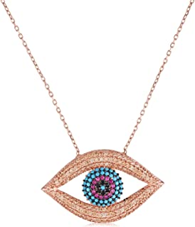 Alwan-Accessories New Silver (Rose Gold Plated) Necklace for Good Luck for Women - EE5416NSR