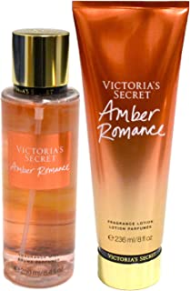 Victoria Secret Amber Romance Fragrance Body Mist & Lotion Set