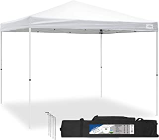 Caravan Canopy Sports 21007900010 10x10 V-Series 2 Pro Kit White Canopy, 10'x10' Base 10'x10' top