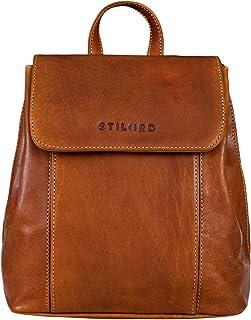 STILORD 'Fiona' Daypack Rucksack Damen Leder Klein für City Shopping Freizeit iPad 9.7 Zoll Vintage Rucksackhandtasche aus...