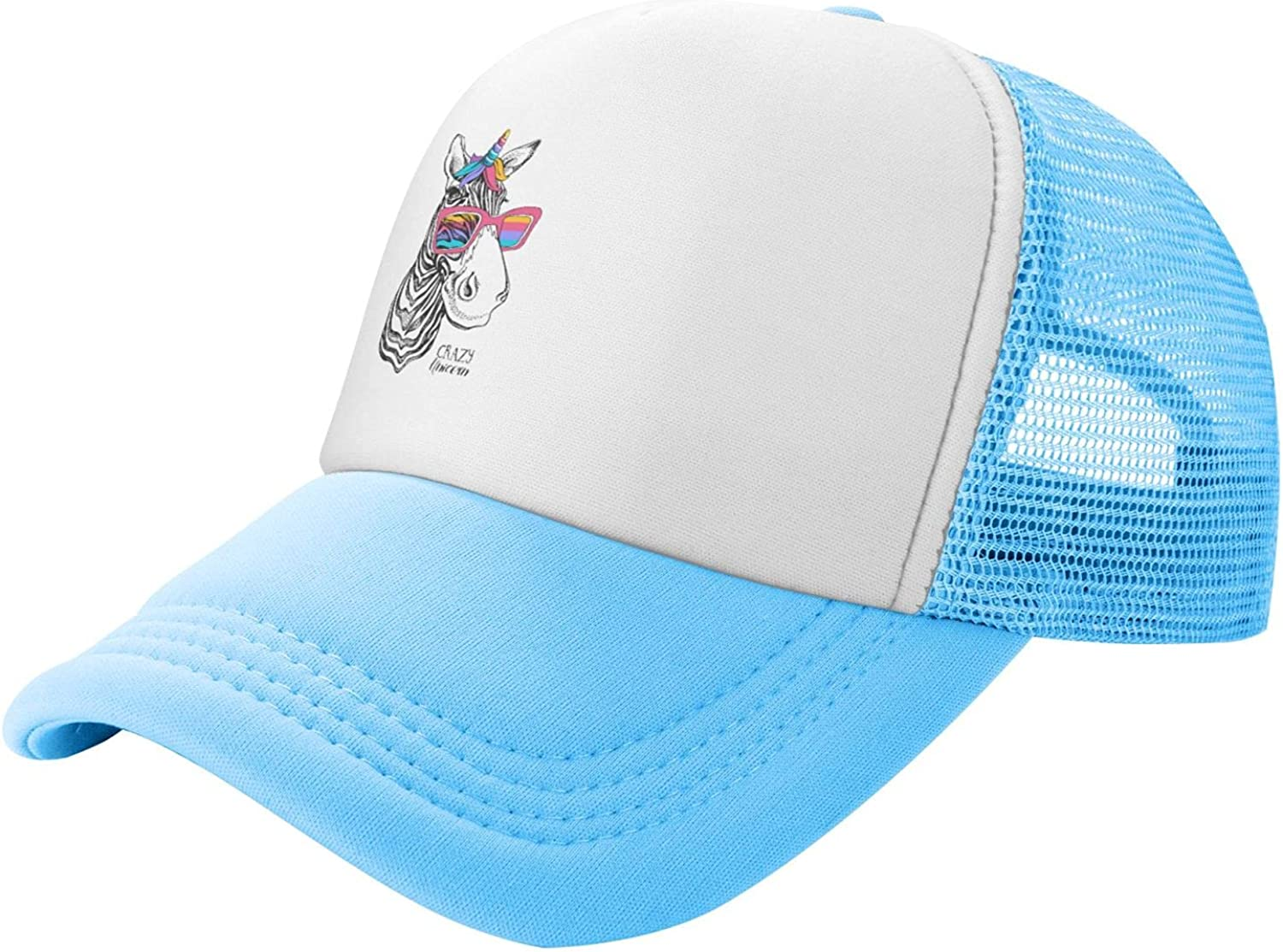 Funny Zebra Magical Mask Crazy Unicorn Kids Ranking Special price for a limited time TOP2 Tod Trucker Mesh Hat