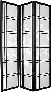 ORIENTAL Furniture Bamboo Tree Shoji Screen, 6', Black
