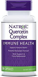 Natrol Quercetin Complex, Immune Health with Vitamin C and Citrus Bioflavonoids, 500 mg 50 Count